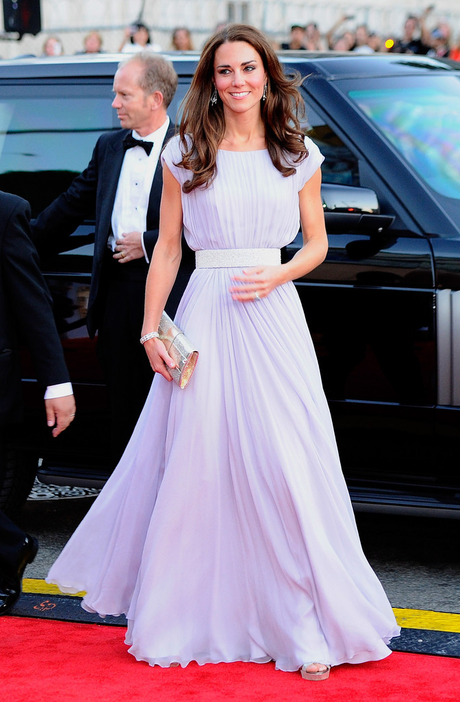 Kate+Middleton in The Duke and Duchess of Cambridge Attend BAFTA Brits To Watch Event