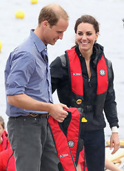 Prince William wore a striped button down for his Canadian Tour with Kate.