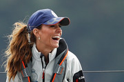 Kate Middleton wore her hair in a bushy ponytail at the King's Cup Regatta.