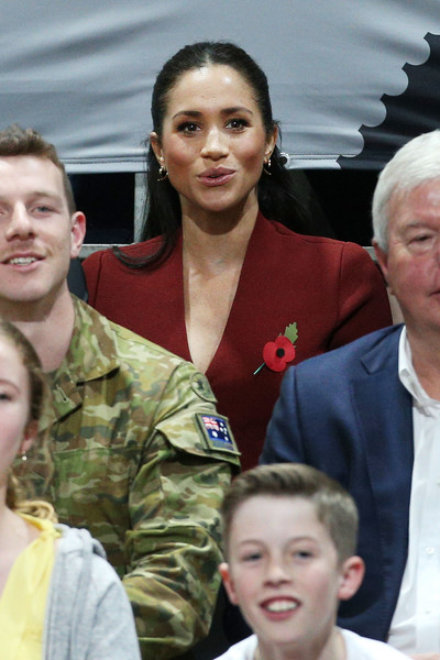 More Pics of Meghan Markle Skinny Pants (2 of 47) - Meghan Markle Lookbook - StyleBistro [people,hairstyle,military,military uniform,soldier,smile,gesture,buzz cut,meghan,australia,sussex,duchess,cities,duke and duchess of sussex visit,duke,final,tour,invictus games]