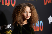 Nico Parker rocked an afro at the premiere of 'Dumbo.'