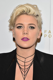 Betty Who rocked an edgy fauxhawk at the E!, Fashion Police and Nylon NYFW kickoff event.