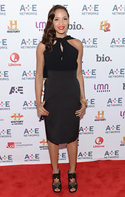 Dania Ramirez rocked a classic column LBD that had contemporary touches like a cool halter neckline and a high waist.