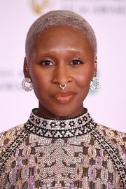 Cynthia Erivo stuck to her signature buzzcut when she attended the 2021 BAFTAs.