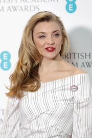 Natalie Dormer wore her lush waves swept to the side at the EE British Academy Film Awards nominations announcement.