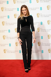 Sarah Jessica Parker kept her BAFTA look classy and simple with black skinny pants.