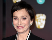 Kristin Scott Thomas opted for a simple pixie when she attended the EE British Academy Film Awards.