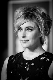 Greta Gerwig rocked a messy-sexy 'do at the EE British Academy Film Awards.