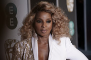 Mary J. Blige was fabulously coiffed with these voluminous curls at the EE British Academy Film Awards.