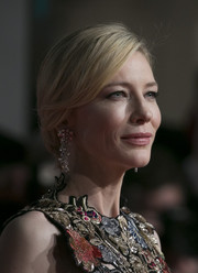 Cate Blanchett opted for a simple yet elegant chignon when she attended the BAFTAs.