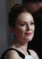 Julianne Moore pulled her hair back into a bun for her BAFTAs look.