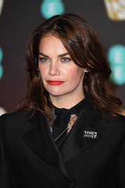 Ruth Wilson attended the EE British Academy Film Awards wearing a messy wavy hairstyle.