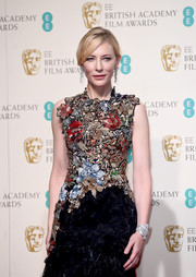 Cate Blanchett attended the BAFTAs wearing an ultra-luxe diamond bracelet by Tiffany & Co.