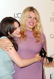 Amanda de Cadenet jumped in on the ombre trend for the 'Elle' soiree..