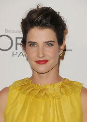 Cobie Smulders wore a pair of cerise earrings in 18-carat gold and set with pave diamonds at the 'Elle' 18th Annual Women in Hollywood Tribute.