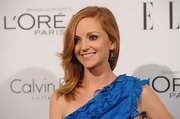 Jayma Mays wore a gorgeous pair of blue topaz chiclet earrings at the 'Elle' 18th Annual Women in Hollywood Tribute. She also accessorized with a chiclet bracelet of  London blue topaz and a pave diamond Waverly bracelet.