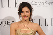 Jenna Dewan-Tatum wore her long chestnut locks in a casual, tousled ponytail at the 'Elle' 18th Annual Women in Hollywood Tribute.