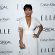 Meagan Good in a White Jumpsuit
