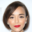 Ashley Madekwe's faux bob and classic red pout