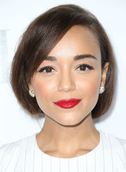 Ashley Madekwe swept her hair up in a faux bob for the Elle Women in Hollywood celebration.
