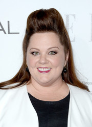Melissa McCarthy styled her hair in a cool pompadour-inspired half-up half-down 'do for the Elle Women in Hollywood celebration.