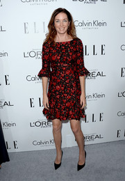 Julianne Nicholson looked lovely in a red and black print dress with bell sleeves during the Elle Women in Hollywood celebration.