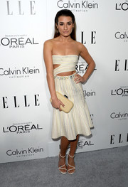 Lea Michele chose a sexy yet tasteful strapless cutout dress by Calvin Klein for the Elle Women in Hollywood celebration.