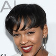 Meagan Good's short chop and frosted cat eye