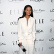 Joy Bryant in Draped White