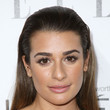 Lea Michele's slicked hair and doe-eyed feathery lashes