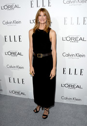 Laura Dern was low-key yet stylish in a sleeveless black maxi dress by Calvin Klein during the Elle Women in Hollywood celebration.