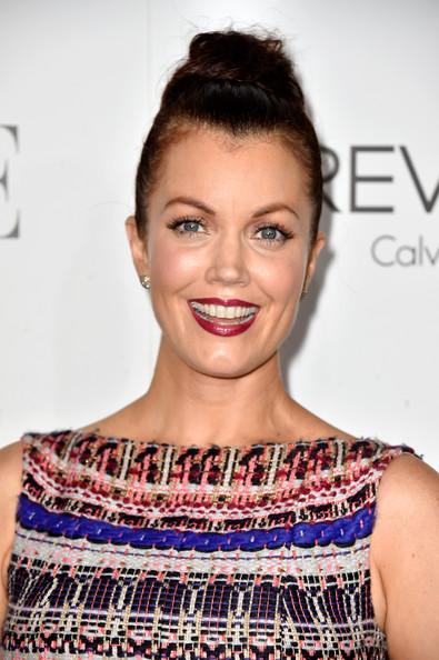 Bellamy Young attended the Elle Women in Hollywood event wearing her hair up in a high bun.
