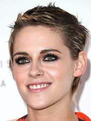 Kristen Stewart worked a gelled boy cut during Elle's Women in Hollywood celebration.