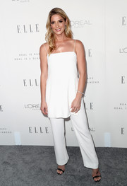 Ashley Greene matched her cami with a pair of white pants, also by Jeffrey Dodd.
