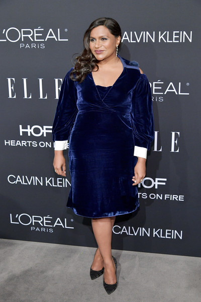More Pics of Mindy Kaling Side Sweep (3 of 3) - Mindy Kaling Lookbook - StyleBistro [dress,clothing,cocktail dress,cobalt blue,fashion model,little black dress,electric blue,fashion,shoulder,premiere,25th annual women in hollywood celebration,calvin klein,mindy kaling,los angeles,beverly hills,california,elle,hearts on fire,loreal paris,red carpet,mindy kaling,fashion,dress,actor,entertainment,party,getty images,clothing,elle]