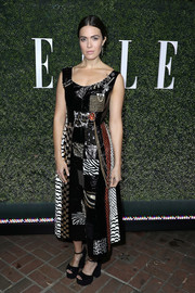 Mandy Moore was punk-chic in a Marc Jacobs patchwork dress during Elle's Women in Television celebration.