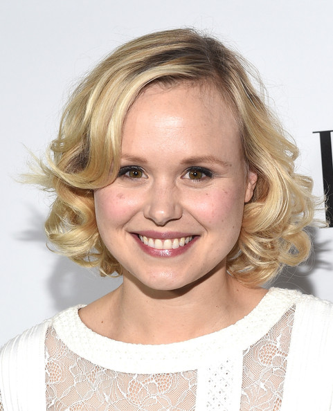 Alison Pill's curled bob added a cute feel to her overall look.