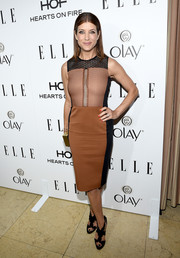 Kate Walsh's tan and black dress was a gorgeous fit at ELLE's Annual Women in Television Celebration.