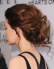 Lydia Hearst oozed vintage romance with this bobby-pinned updo at the Elle Women in Television celebration.