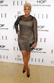 NeNe Leakes was rocker-chic in a mesh-overlay LBD during the Elle Women in Television celebration.