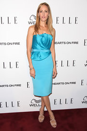 Kim Raver looked refreshing in a bright blue strapless cocktail dress at the Elle Women in Television Celebration.