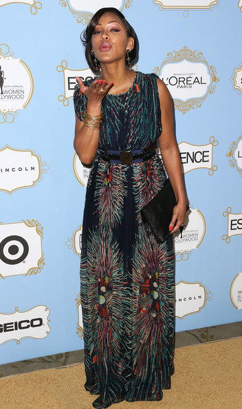 More Pics of Meagan Good Dangle Decorative Earrings (4 of 4) - Meagan Good Lookbook - StyleBistro