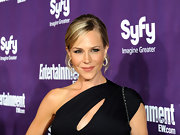 Julie Benz showed off her classic bun while hitting Comic-Con.