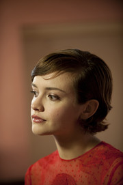 Olivia Cooke sported a short 'do with flipped ends at the premiere of 'Me and Earl and the Dying Girl.'
