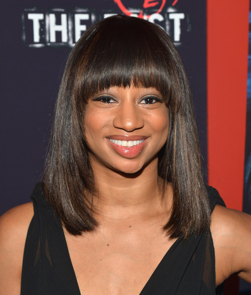 Monique Coleman looked hip at the premiere of 'The East' with this shoulder-length straight cut with bangs.