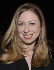 Chelsea Clinton kept it basic with this layered hairstyle when she attended the Edun fashion show.
