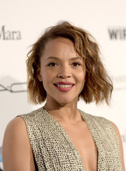Carmen Ejogo rocked edgy short waves at the Women in Film pre-Oscar cocktail party.