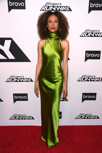 Elaine Welteroth Halter Dress
