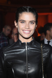 Sara Sampaio wore her hair in boxer braids at the Elie Saab Couture show.