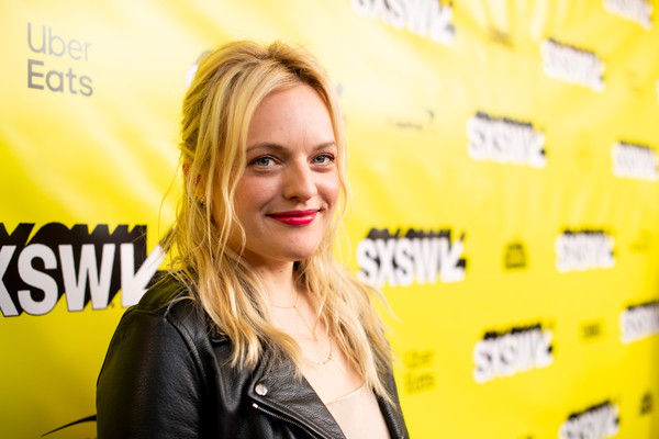 Elisabeth Moss Half Up Half Down [hair,yellow,blond,hairstyle,smile,premiere,long hair,happy,layered hair,elisabeth moss,festivals,sxsw conference,us,austin,texas,stateside theater,paramount theater]